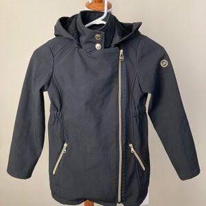 Michael Kors black hooded coat